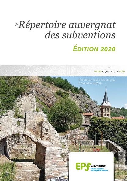 Répertoire des subventions 2020 de l'EPF Auvergne