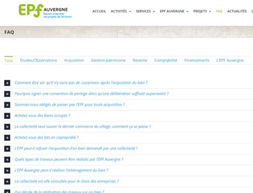 Site Internet EPF Auvergne